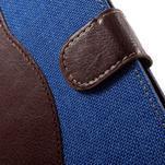 Jeansy PU kožené/textilní pouzdro na Sony Xperia XA - modré - 6/7