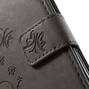 Butterfly pouzdro na mobil Sony Xperia XA - šedé - 6