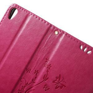Butterfly pouzdro na mobil Sony Xperia XA - rose - 6