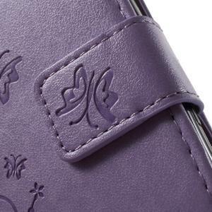 Butterfly pouzdro na mobil Sony Xperia XA - fialové - 6