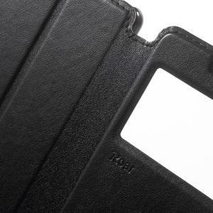 Royal PU kožené pouzdro s okýnkem na Sony Xperia XA - černé - 6