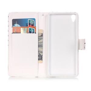 Emotive PU kožené knížkové pouzdro na Sony Xperia XA - srdíčka - 6