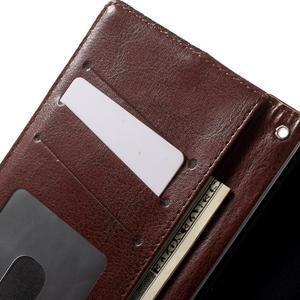 Jeansy PU kožené/textilní pouzdro na Sony Xperia XA - černé - 6