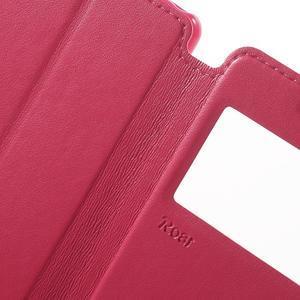 Royal PU kožené pouzdro s okýnkem na Sony Xperia XA - rose - 6