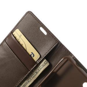 Sonata PU kožené pouzdro na mobil Sony Xperia Z1 Compact - coffee - 6
