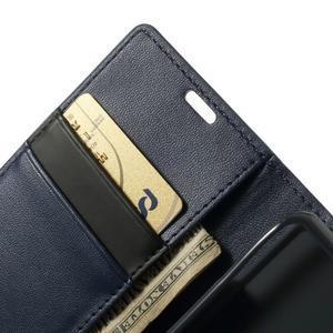 Sonata PU kožené pouzdro na mobil Sony Xperia Z1 Compact - tmavěmodré - 6