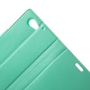 Sonata PU kožené pouzdro na mobil Sony Xperia Z1 Compact - azurové - 6