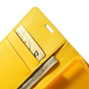 Sonata PU kožené pouzdro na mobil Sony Xperia Z1 Compact - žluté - 6
