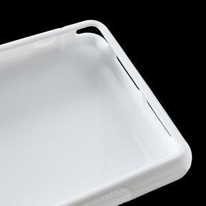 Gelové S-line pouzdro na Sony Xperia Z1 Compact - bílé - 6