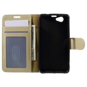 Clothy PU kožené pouzdro na Sony Xperia Z1 Compact - champagne - 6