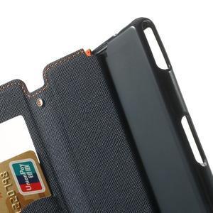 Okýnkové pouzdro na mobil Sony Xperia Z1 Compact - oranžové - 6