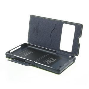 Okýnkové pouzdro na mobil Sony Xperia Z1 - zelené - 6