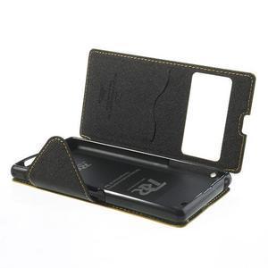 Okýnkové pouzdro na mobil Sony Xperia Z1 - žluté - 6