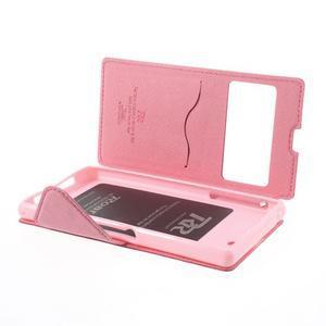 Okýnkové pouzdro na mobil Sony Xperia Z1 - rose - 6