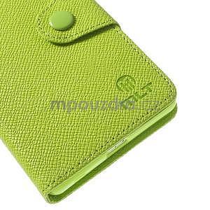 Stylové peněženkové pouzdro na Sony Xperia Z2 - zelené - 6