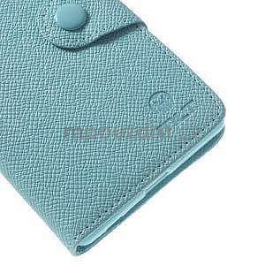 Stylové peněženkové pouzdro na Sony Xperia Z2 - světle modré - 6