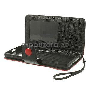 Stylové peněženkové pouzdro na Sony Xperia Z2 - červené/černé - 6
