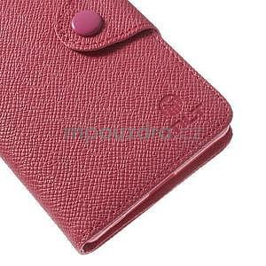 Stylové peněženkové pouzdro na Sony Xperia Z2 - rose - 6