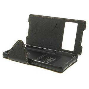 Okýnkové pouzdro na mobil Sony Xperia Z2 - žluté - 6