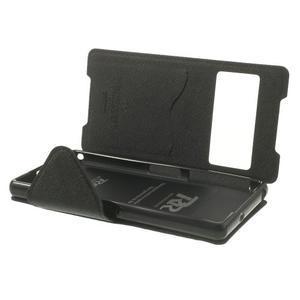 Okýnkové pouzdro na mobil Sony Xperia Z2 - černé - 6