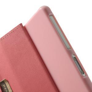 Sonata PU kožené pouzdro na mobil Sony Xperia Z2 - růžové - 6