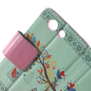 Pictu peněženkové pouzdro na Sony Xperia Z3 Compact - ptáček v kleci - 6