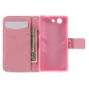 Knížkové pouzdro na mobil Sony Xperia Z3 Compact - zamilovaní ptáčci - 6