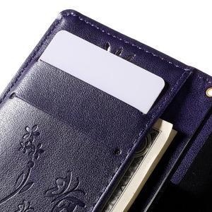 Butterfly PU kožené pouzdro na mobil Sony Xperia Z3 Compact - fialové - 6