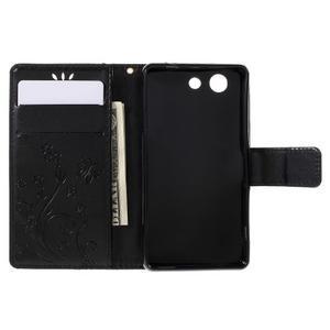 Butterfly PU kožené pouzdro na mobil Sony Xperia Z3 Compact - černé - 6
