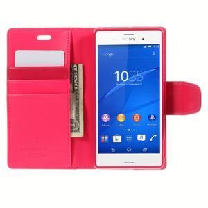 Sonata PU kožené pouzdro na mobil Sony Xperia Z3 - rose - 6