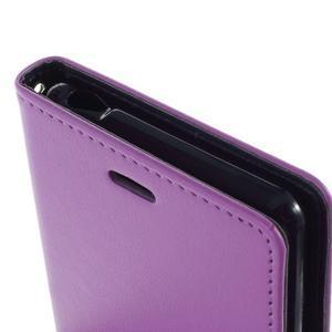 Luxury PU kožené pouzdro na mobil Sony Xperia Z3 - fialové - 6