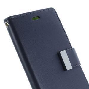 Luxury PU kožené pouzdro na mobil Sony Xperia Z3 - tmavěmodré - 6