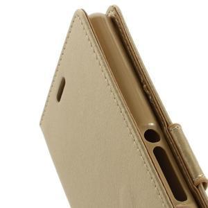 Luxury PU kožené pouzdro na mobil Sony Xperia Z3 - champagne - 6
