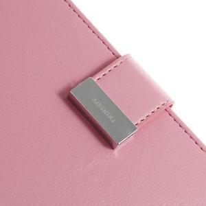 Luxury PU kožené pouzdro na mobil Sony Xperia Z3 - růžové - 6
