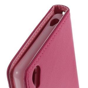Luxury PU kožené pouzdro na mobil Sony Xperia Z3 - rose - 6
