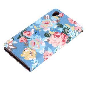 Květinové pouzdro na mobil Sony Xperia Z3 - modré - 6