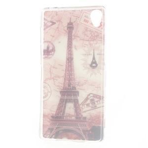 Ultratenký gelový obal na mobil Sony Xperia Z3 - Eiffelova věž - 6