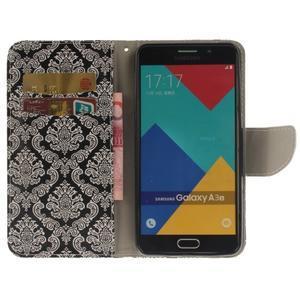 Patt peněženkové pouzdro na Samsung Galaxy A3 (2016) - kvetinová tapeta - 6