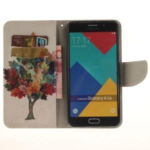 Patt peněženkové pouzdro na Samsung Galaxy A3 (2016) - barevný strom - 6
