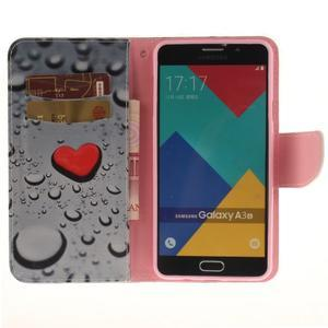 Patt peněženkové pouzdro na Samsung Galaxy A3 (2016) - srdce - 6