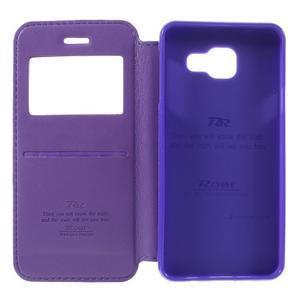 PU kožené pouzdro s okýnkem na Samsung Galaxy A3 (2016) - fialové - 6