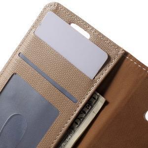 Cloth peněženkové pouzdro na mobil Samsung Galaxy A3 (2016) - champagne - 6