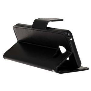 Hoor PU kožené pouzdro na mobil Samsung Galaxy A3 (2016) - černé - 6