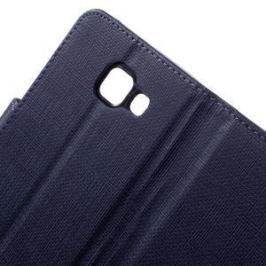 Cloth peněženkové pouzdro na mobil Samsung Galaxy A3 (2016) - tmavěmodré - 6