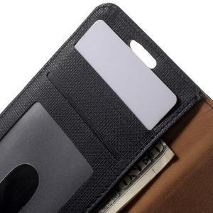 Cloth peněženkové pouzdro na mobil Samsung Galaxy A3 (2016) - černé - 6