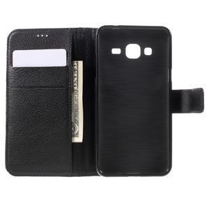 Peněženkové pouzdro na mobil Samsung Galaxy J3 (2016) - černé - 6