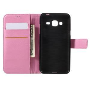 Peněženkové pouzdro na mobil Samsung Galaxy J3 (2016) - růžové - 6