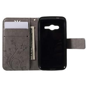 Butterfly pouzdro na mobil Samsung Galaxy Trend 2 Lite - šedé - 6