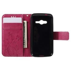 Butterfly pouzdro na mobil Samsung Galaxy Trend 2 Lite - rose - 6