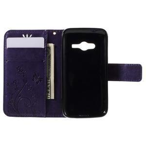 Butterfly pouzdro na mobil Samsung Galaxy Trend 2 Lite - fialové - 6